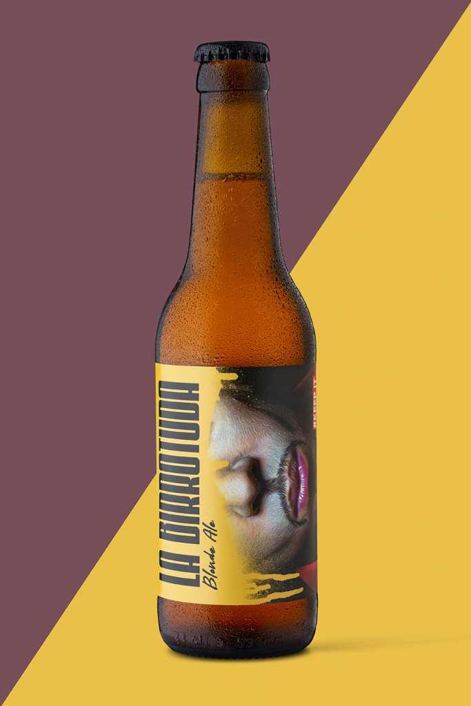 botella cerveza birrotuda movember valladolid